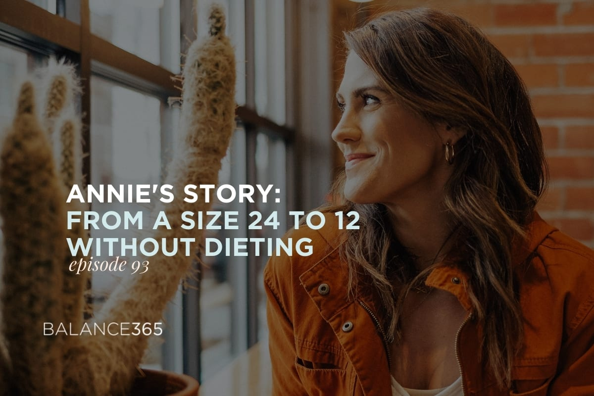 The tables are turned in this episode of Balance365 Life Radio when Jen interviews Annie so she can share how the big weight loss that came with going from a size 24 to a 12 was really a small piece of the way her journey. After so many rounds of Weight Watchers, Annie finally found something that worked.